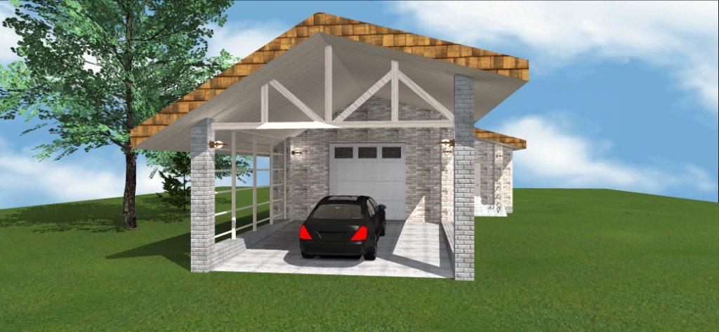 Проект дома 9_Гараж
