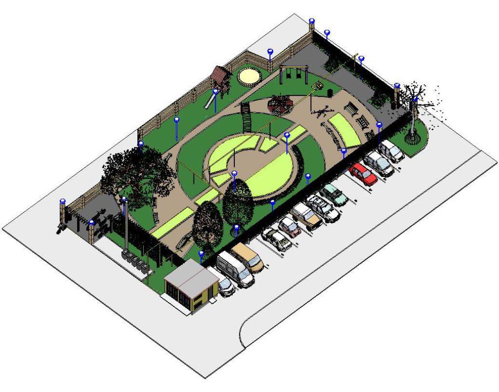 техническая визуализация дворовой территории